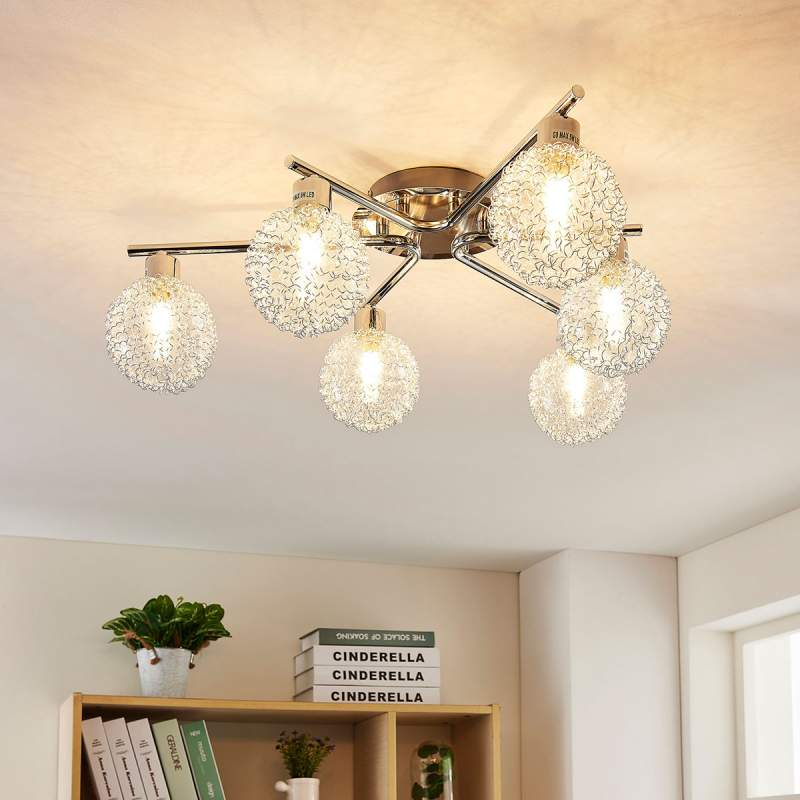 LED plafondlamp Ticino met zes lampjes
