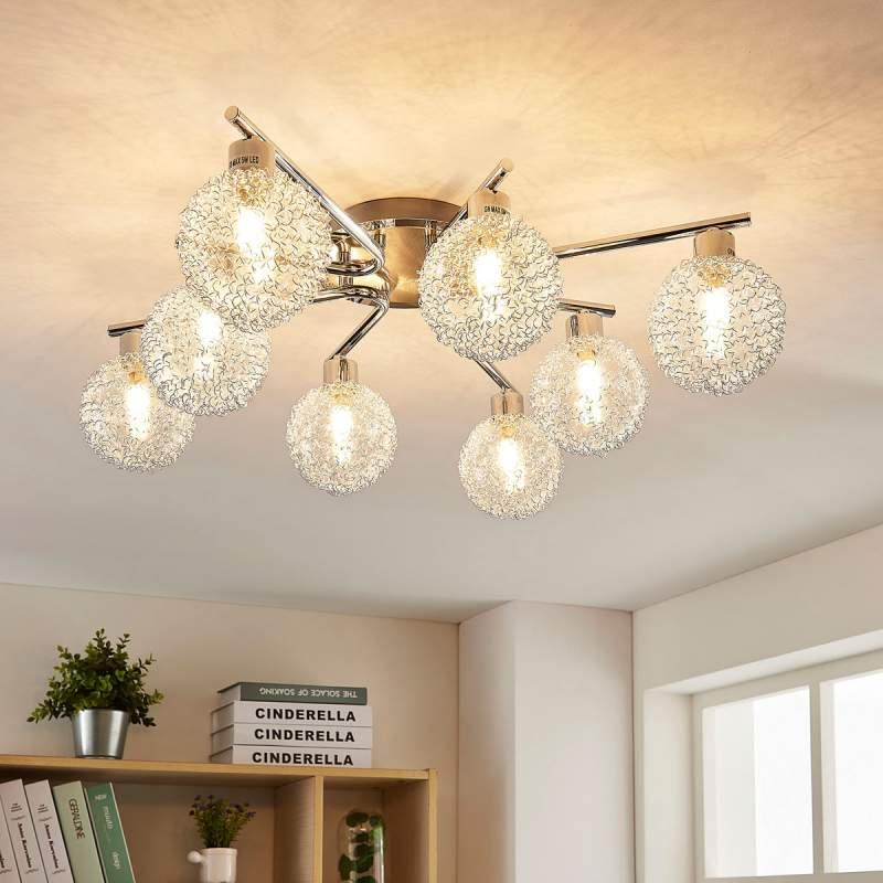 Ticino - LED plafondlamp met 8 lampjes