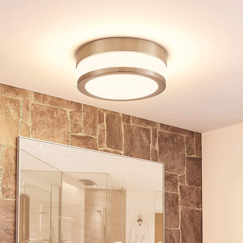 Ronde opaal glazen LED badkamerplafondlamp Luanna