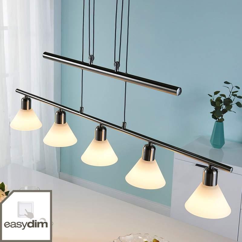 Via schakelaar dimbare LED hanglamp Eleasa
