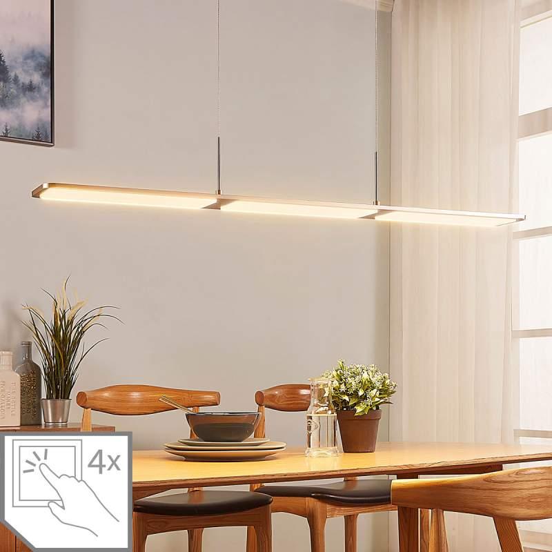 Langwerpige LED hanglamp Stephanie, dimbaar