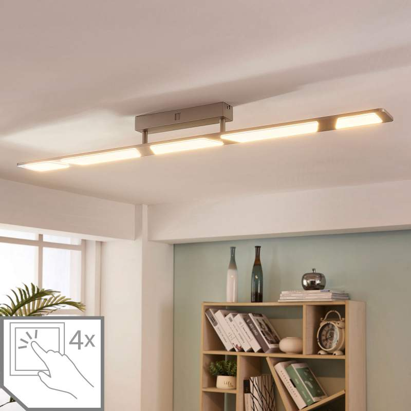 Dimbare LED plafondlamp Stephanie, 5.lamps