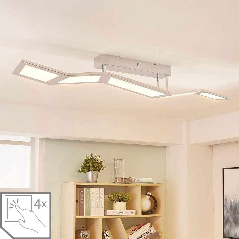 Dimbare LED plafondlamp Luciano, 5.lamps