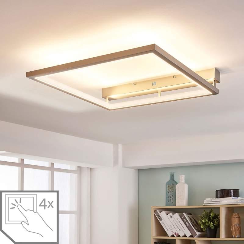Minimalistische LED plafondlamp Heriba, dimbaar