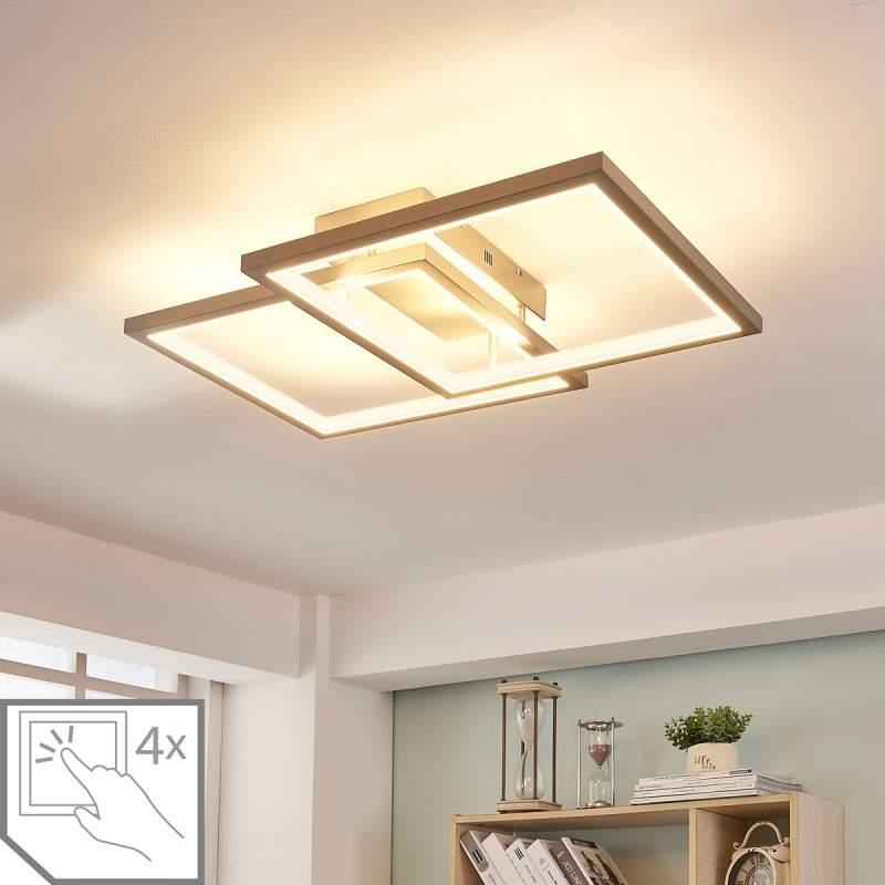 LED plafondlamp Heriba met twee frames, dimbaar