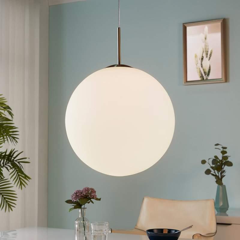 Hanglamp Marike, opaalglazen bol wit