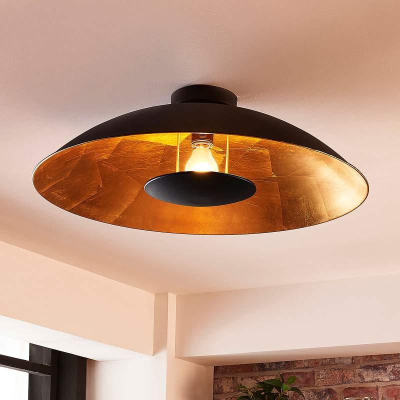 Zwart-gouden hanglamp Emilienne