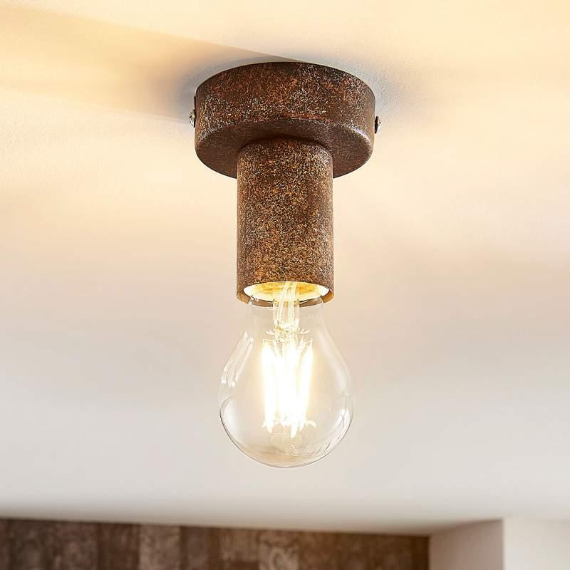 Roestkleurige plafondlamp Jake