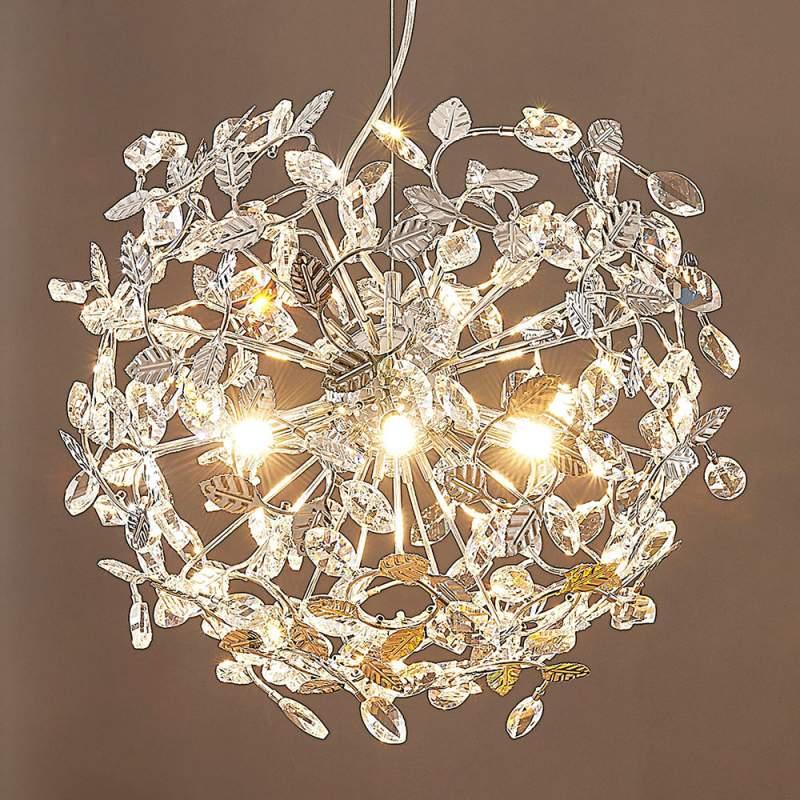 Romantische hanglamp Bjarne, chroom
