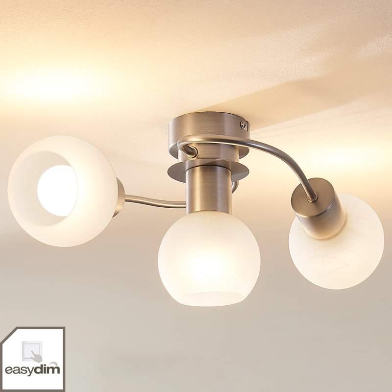 LED plafondlamp Tanos met drie lampjes, easydim