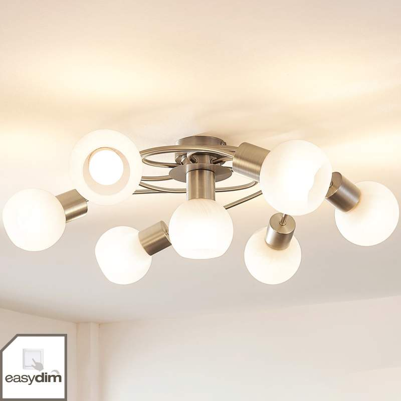 Grote LED plafondlamp Tanos, dimbaar, 7.lamps