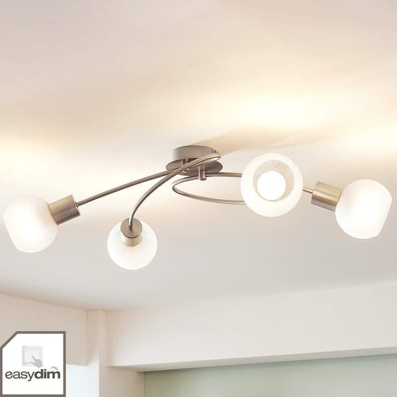 Gebogen LED plafondlamp Tanos, 4.lamps easydim