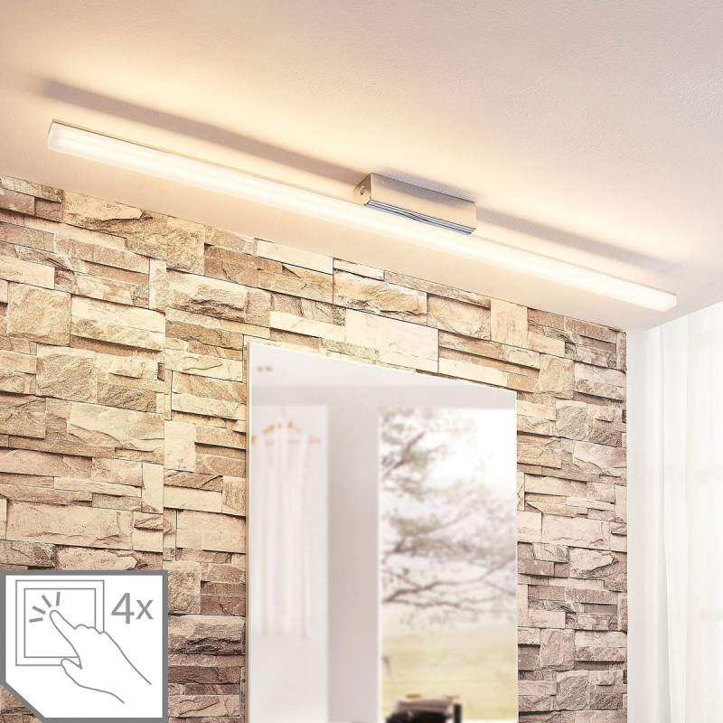 Langwerpige LED plafondlamp Levke, IP44