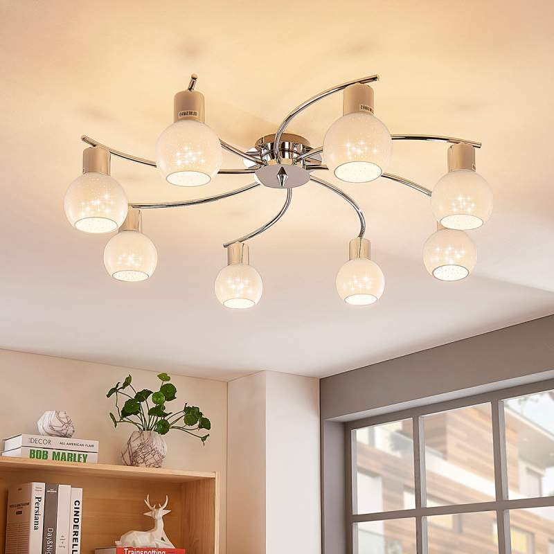 Ronde LED plafondlamp Matthea, opaalglazen kappen