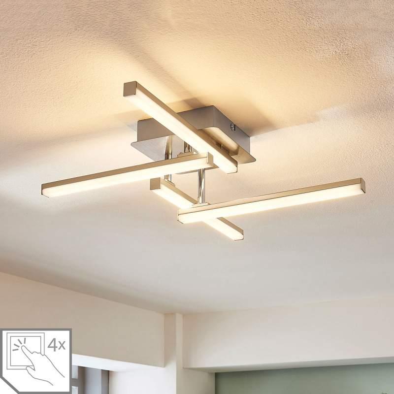 4-staps LED plafondlamp Laurenza, dimmer