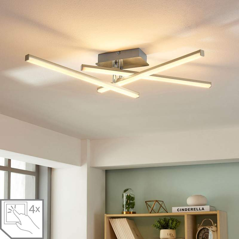 Dimbare LED plafondlamp Laurenzia, 3.lamps