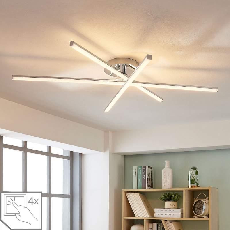 3.lamps LED plafondlamp Korona, dimmer