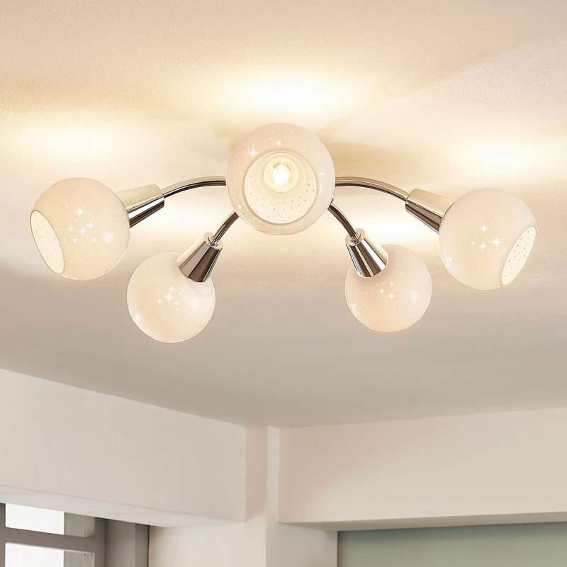 Ronde LED plafondlamp Benedikt, 5.lamps