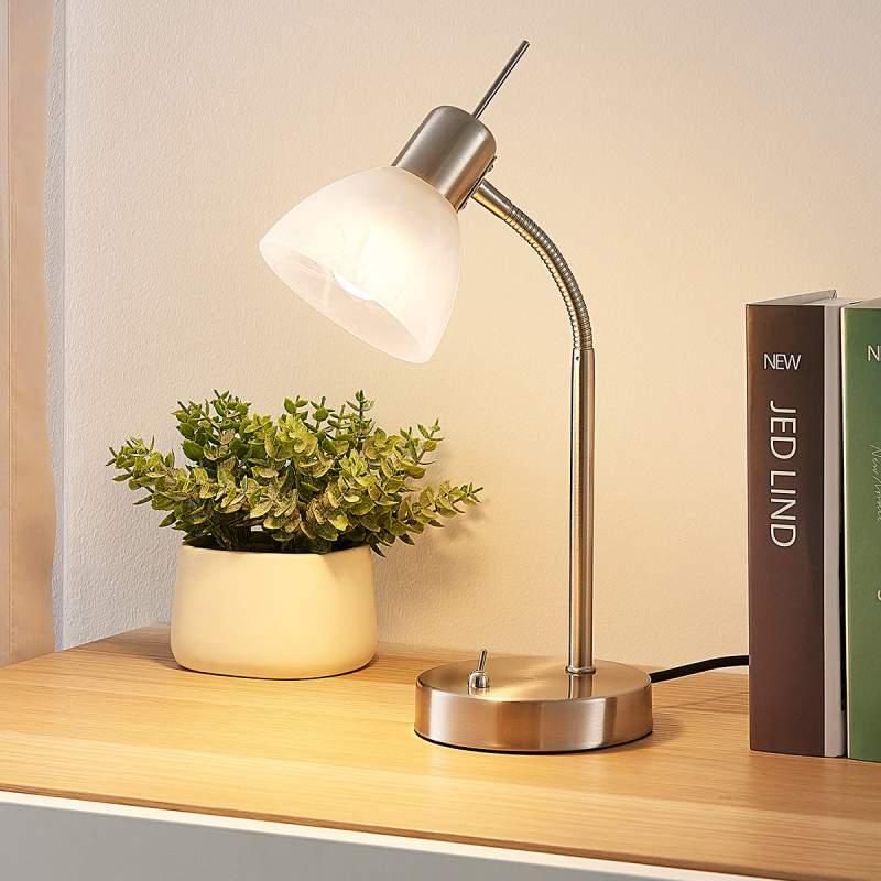 Gwendolin - verstelbare LED tafellamp in nikkel