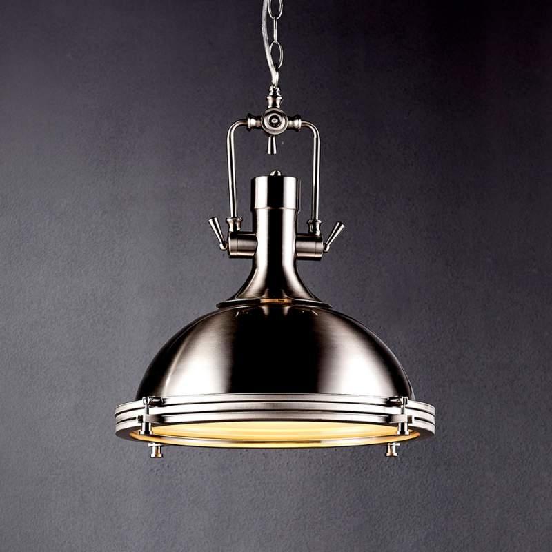 Industriële hanglamp Ciara, mat nikkel
