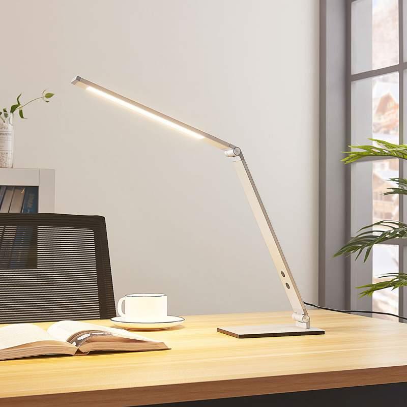 Aluminium LED bureaulamp Nicano met dimmer