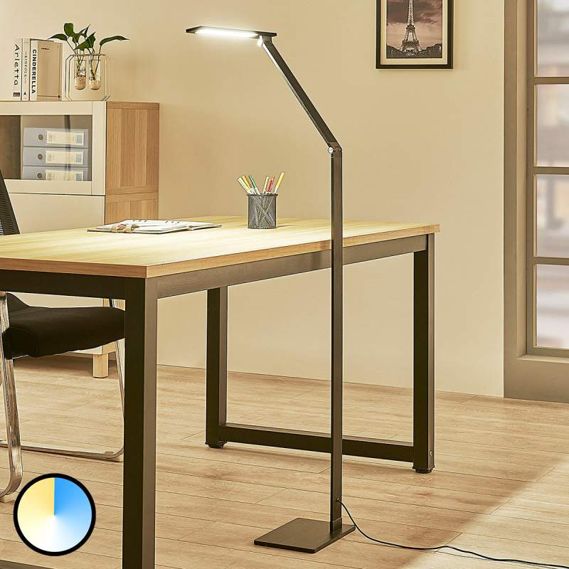 Dimbare LED vloerlamp Salome, lichtkleur variabel