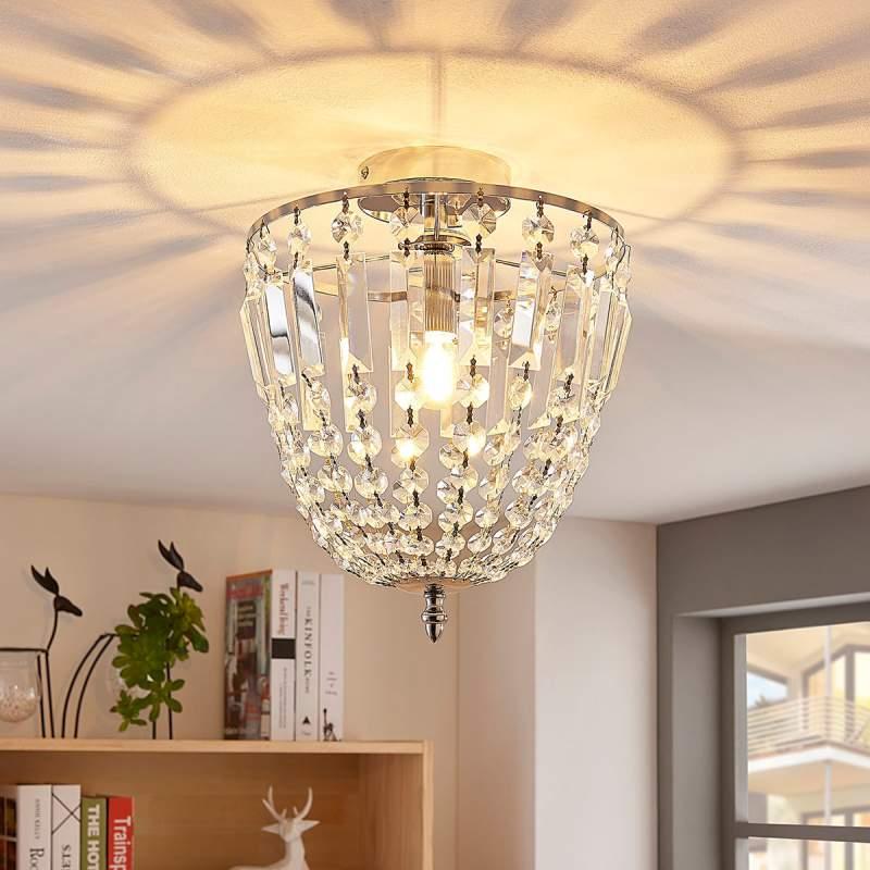 Glinsterende glazen plafondlamp Lionello