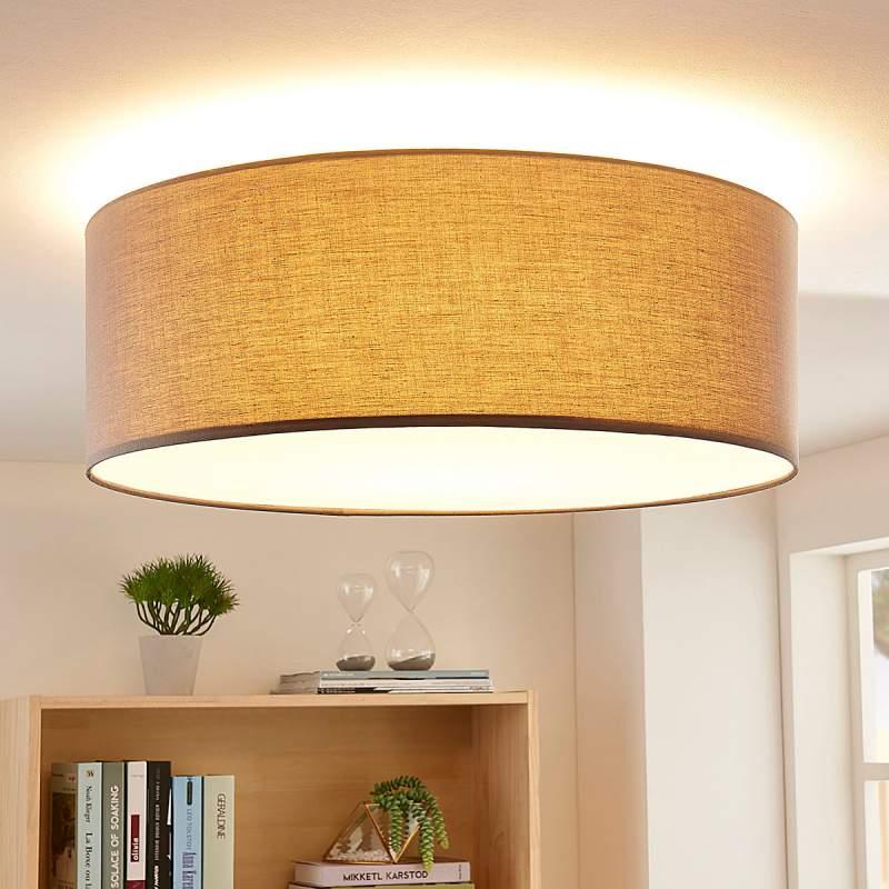 3-traps dimbare LED plafondlamp Dora in grijs