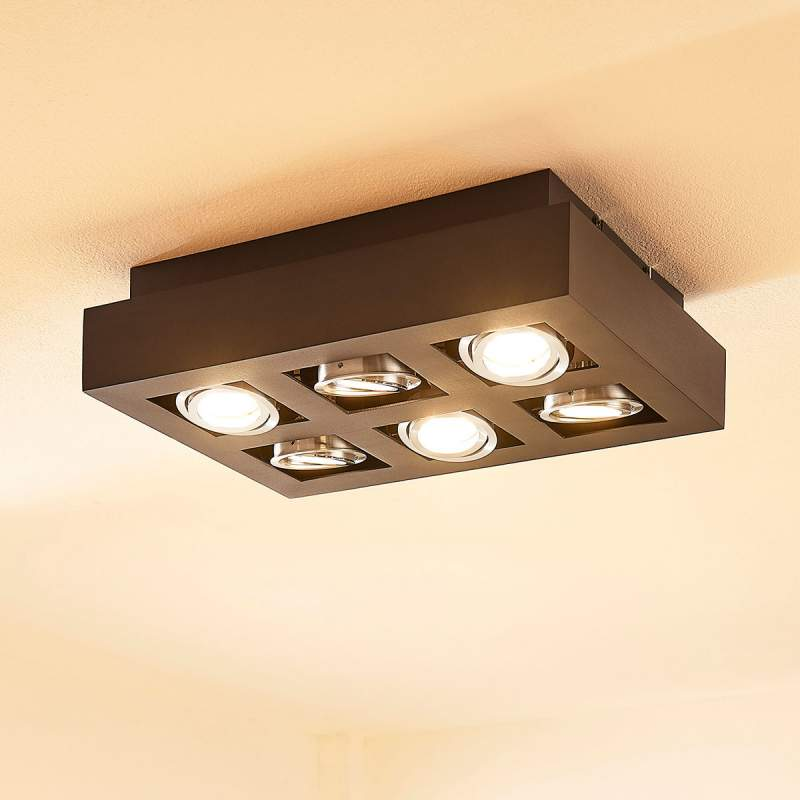 6-lamps LED keukenplafondlamp Vince