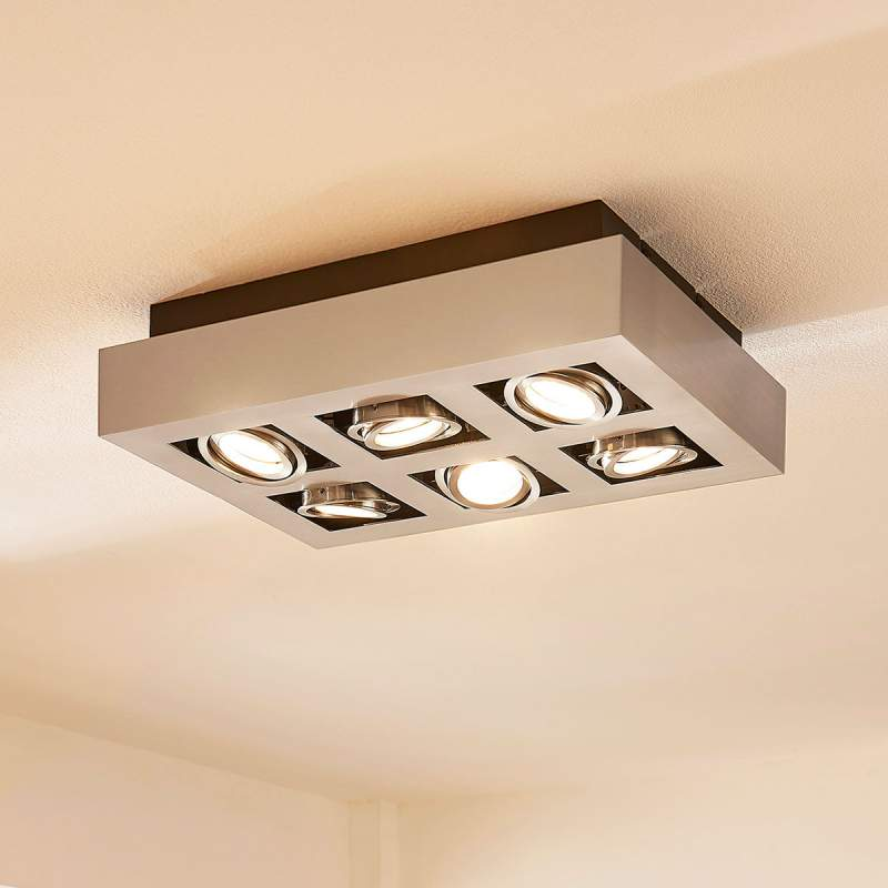 LED plafondlamp Vince met beweegbare lampen