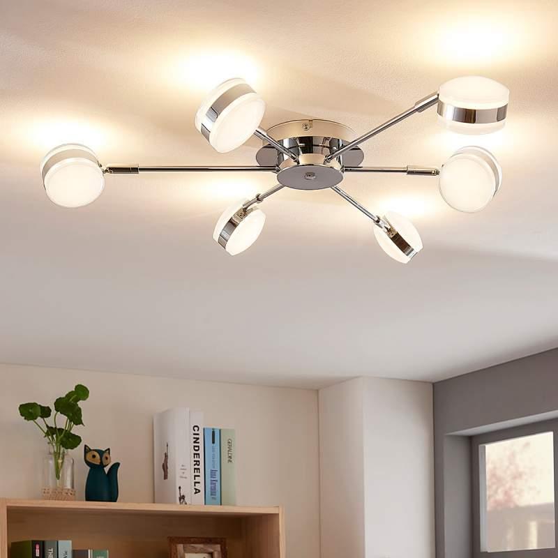 Dimbare LED plafondlamp Ksenija m. 6 lampen