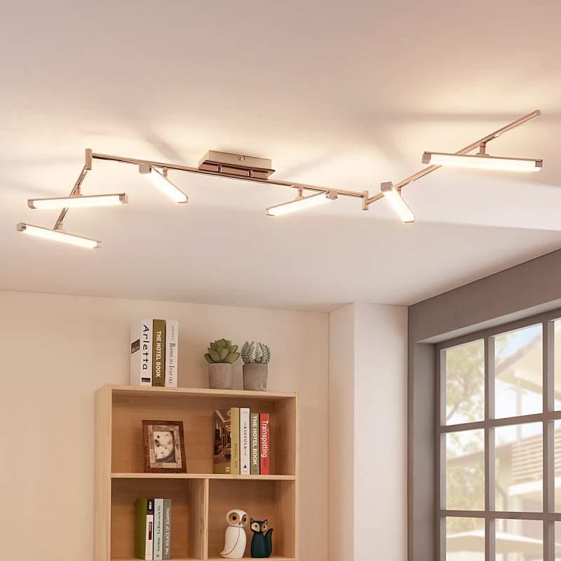 LED plafondlamp Pilou, 6 lampen, dimbaar