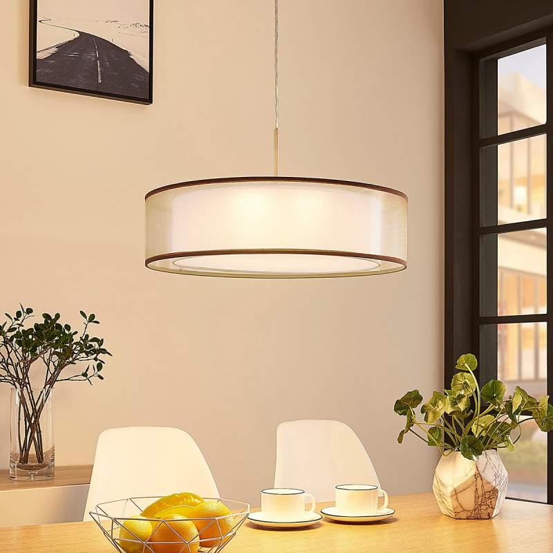 Dimbare LED hanglamp Amon in bruin