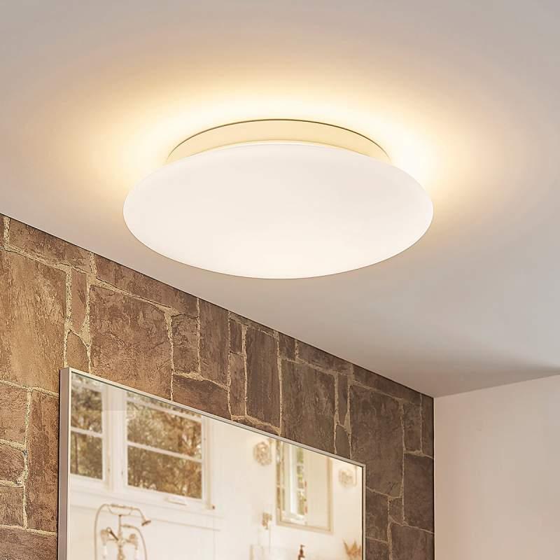Toan - witte dimbare LED glazen plafondlamp, IP44