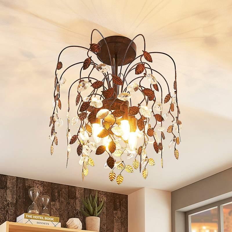 Prachtig versierde plafondlamp Amendera