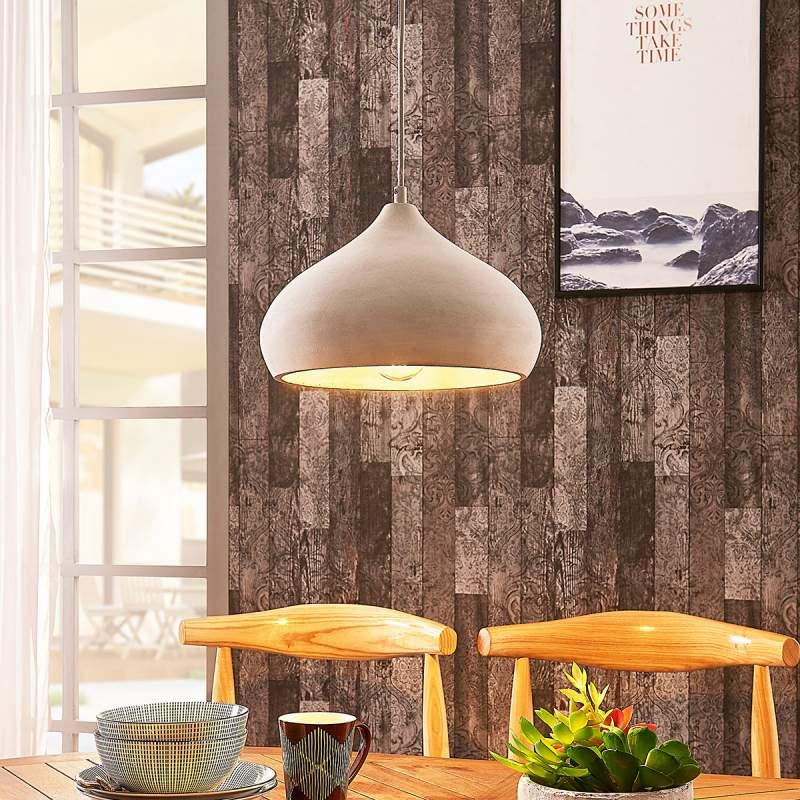 Elegante betonnen hanglamp Morton