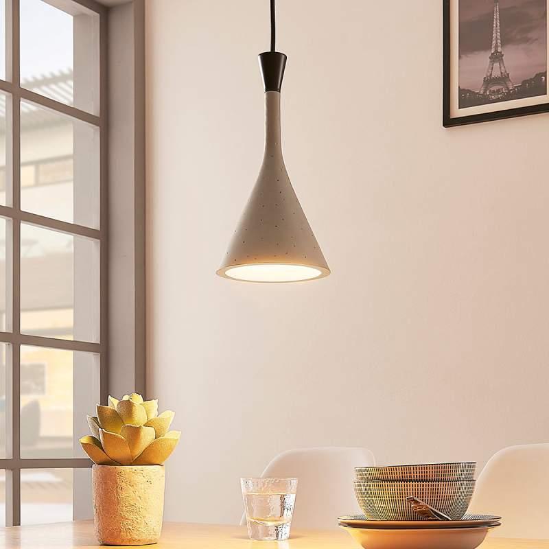 Moderne hanglamp Flynn, betongrijs