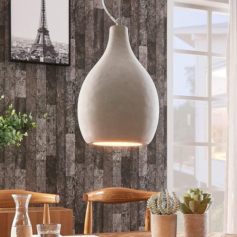 Marian - hanglamp gemaakt van grijs beton
