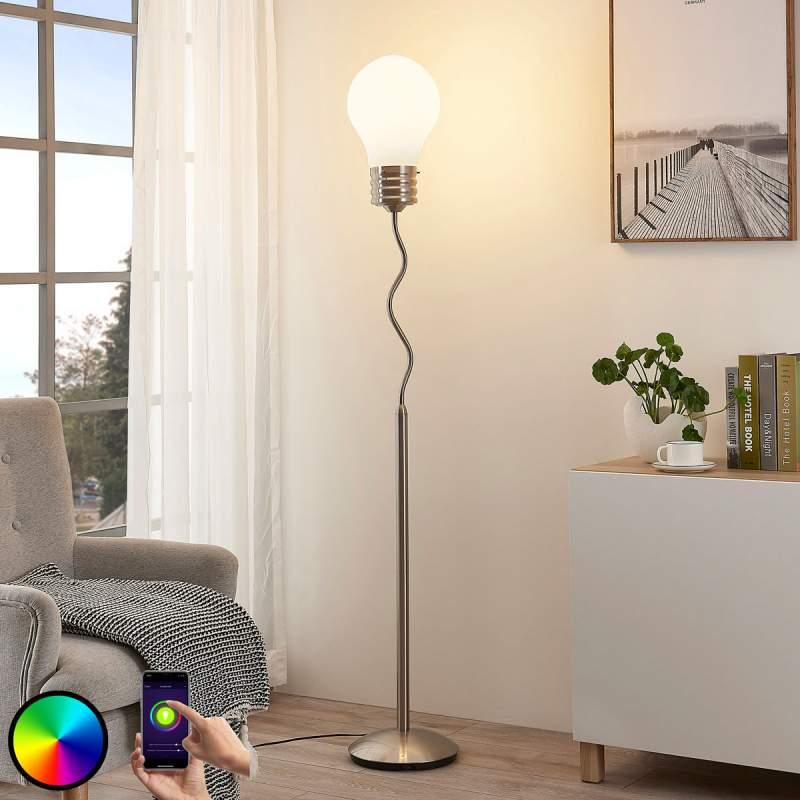 Mena - LED RGB vloerlamp, bestuurbaar via app