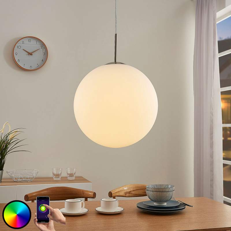 Dimbare LED RGB hanglamp Rhona, App-modus