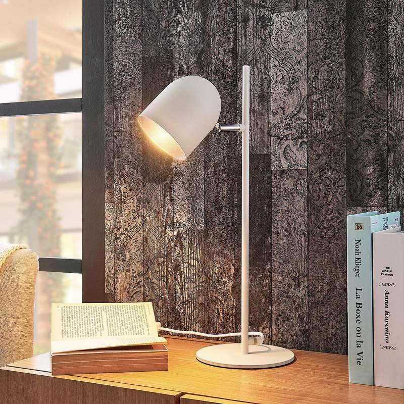 Witzilveren tafellamp Morik in moderne stijl