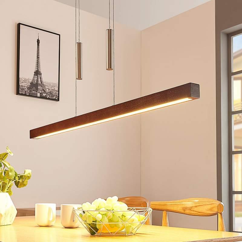 Dimbare houten LED hanglamp Pia
