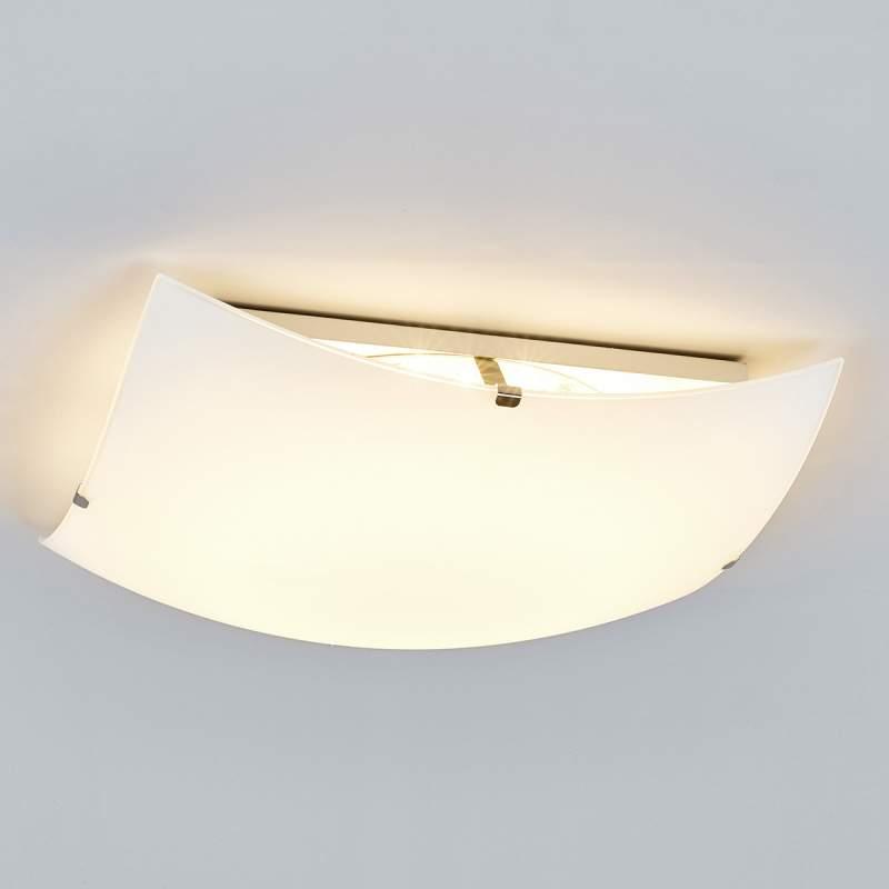 Eenvoudige glazen plafondlamp Malia met LED's