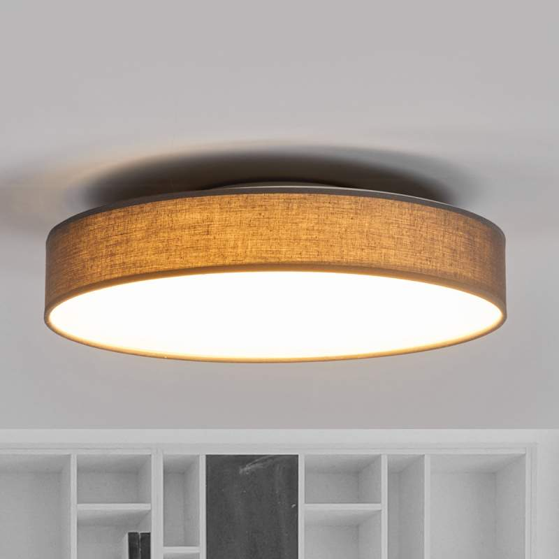 Mooie LED textielplafondlamp Saira in grijs