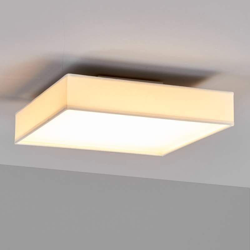 Rechthoekige LED plafondlamp Aka in wit