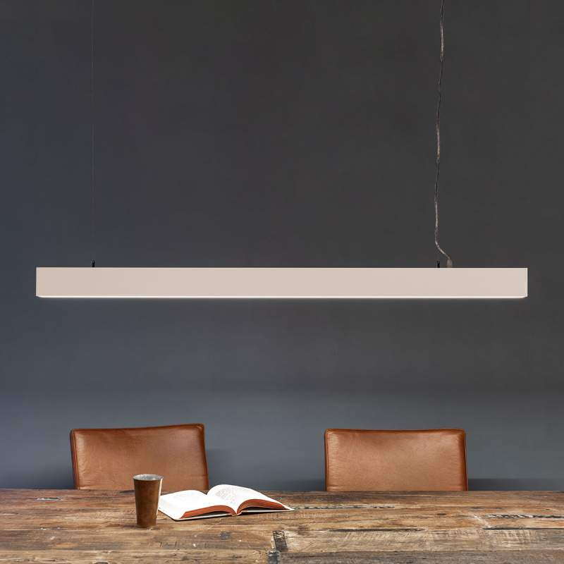 Minimalistische LED hanglamp Minou, wit