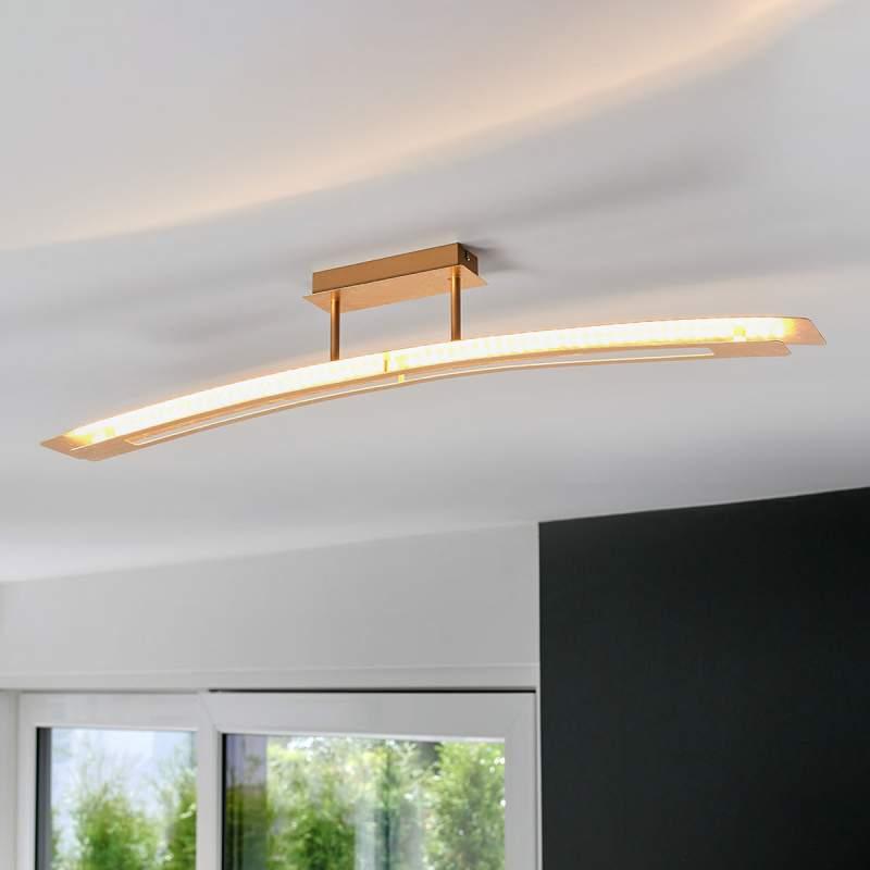 Lolina - helder verlichtende LED plafondlamp, goud