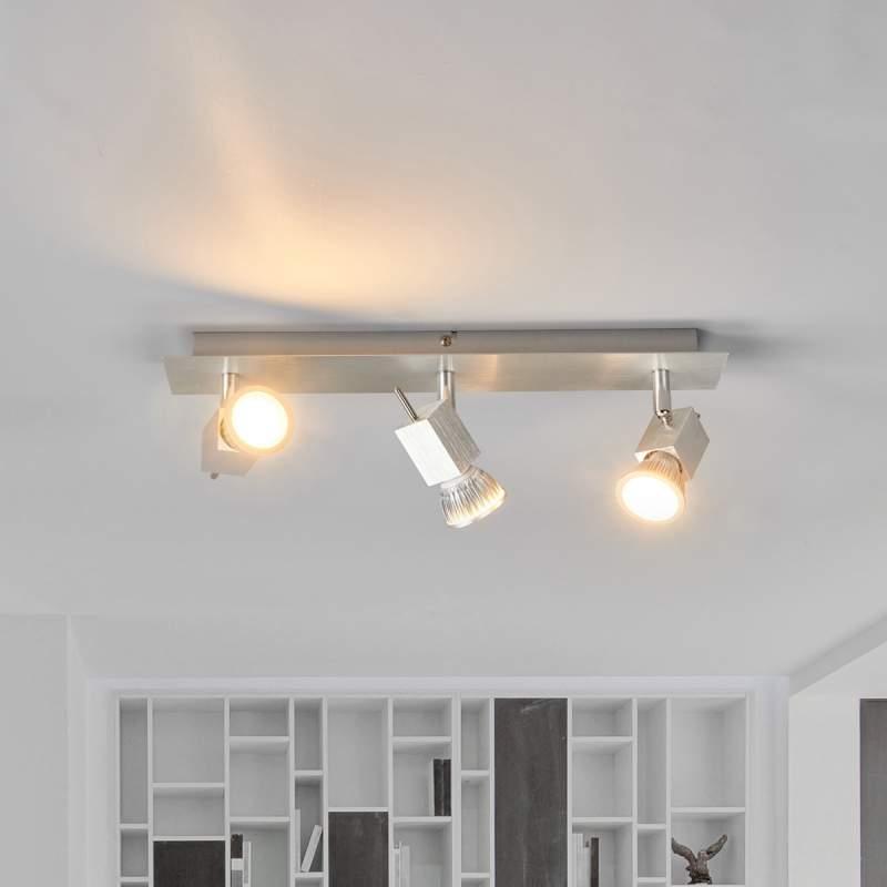 Aluminium plafondlamp Sevina, 3-lamps