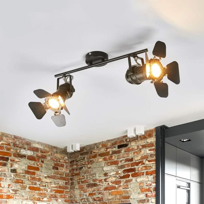 2.lamps plafondlamp Solena, schijnwerper-stijl