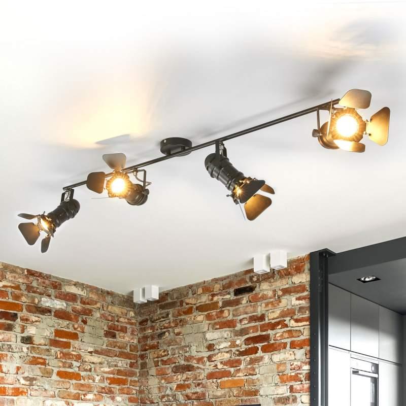 Plafondlamp Solena m. 4 lampen, schijnwerper